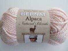 Bernat Alpaca Chunky Knitting Yarn Natural Peony Soft by Lacywork, $3.99