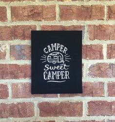 Camper Wall Hanging Camping Art Camp RV by MakingSomethingHappy
