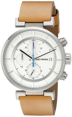 ISSEY MIYAKE Men's SILAY008 W Analog Display Quartz Brown Watch | 43mm | $520.00 retail