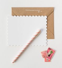 scalloped sugar paper notes