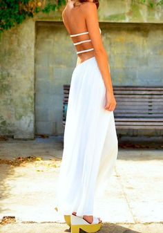 Bandeau Split Maxi Dress