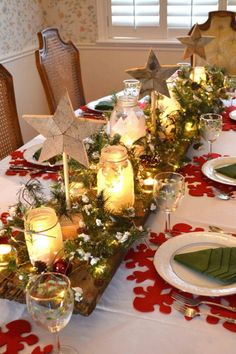 1384 Best Christmas Table Decorations Images In 2019 Christmas
