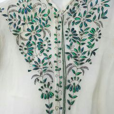 Beetle wing embroidery, late 1800s, Osu Textile Collection. Embroidery Dress, Beetle, Vintage Dresses, Wings, Victorian, Textiles, Jewels, Lace, Clothing
