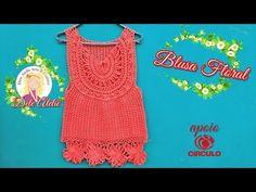 Blusa Floral Decote Redondo (1°parte) - YouTube                                                                                                                                                                                 Mais