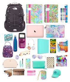 """Back 2 School"" by ceilia3123 on Polyvore featuring The North Face, Lilly Pulitzer, Paper Mate, Casetify, Vera Bradley, S'well, cutekawaii, Frends, Tory Burch and Urban Decay"