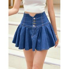 Fashion Pioneer with more than 200000 different style of clothes lower than average market price, offering Great customer service and shopping experience. Cute Skirts, Short Skirts, Mini Skirts, Skirt Outfits, Cute Outfits, Jeans Rock, Denim Fashion, Denim Skirt, Korean Fashion