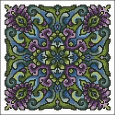 Roll Your Own Mandala Set 3 – Ink Circles Cross Stitch Charts, Cross Stitch Patterns, Tile Floor Diy, Cross Stitch Geometric, Cross Stitch Flowers, Tile Patterns, Horror Movies, Needlework, Color Schemes