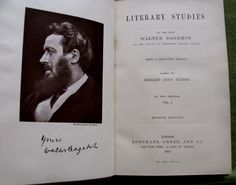 Literary Studies By The Late Walter Bagehot With A Prefatory Memoir Editied By Richard Holt Hutton In Two Volumes This is Volume One Only Fourth