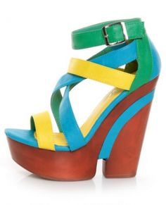 I like the heel and the colors of these.