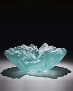 Fused glass bowl by Minnesota artist Michael Tonder--Blue Skies Glassworks.