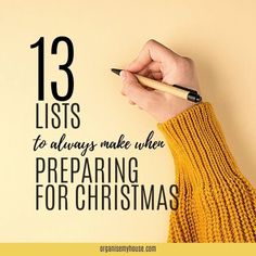 What Christmas Lists Do You Make? - Here Are 13 That Will REALLY Help  Make Christmas Planning Easier This Year...