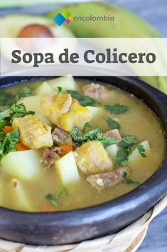 Colombian Plantain Soup - Sweet y Salado Beef Soup Recipes, Lunch Recipes, Easy Healthy Recipes, Easy Meals, Cooking Recipes, Plantain Soup, Plantain Recipes, Vegetarian Soup, Vegetarian Recipes