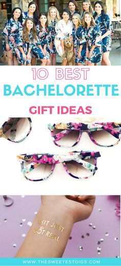 Throw an amazing bachelorette party with these gift ideas. Perfect for bridal party favors too! Includes custom and personalized gifts like waterbottles, sunglasses, and flash tattoos. Bachelorette Party Themes, Bachlorette Gift Ideas, Vegas Bachelorette, Practical Gifts, Trendy Tattoos, Inspirational Gifts, Bridesmaid Gifts, Wedding Bridesmaids, Cosmetic Bag