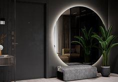 "Apartment in Kharkiv ZHK ""Dom na Sokol'nikakh"" - Dezign Ark (Beta) Bathroom Design Luxury, Modern Bathroom Design, Modern House Design, Home Room Design, Dream Home Design, House Front Design, Cool House Designs, Apartment Interior, Apartment Design"