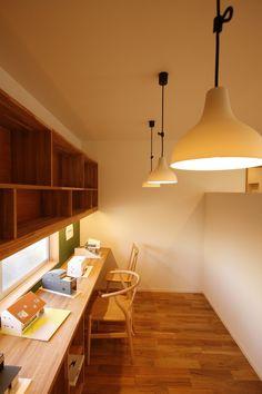 bano36 Japanese Interior, Modern Interior, Interior Architecture, Interior Design, Workspace Design, Home Office Design, House Design, Muji Home, Study Corner