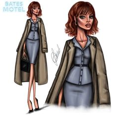 #Rihanna is checking into the Bates Motel as Marion Crane! @insidebates #fashionillustrations by @ldochev| Be inspirational ❥|Mz. Manerz: Being well dressed is a beautiful form of confidence, happiness & politeness
