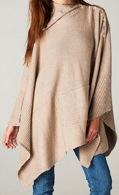 Poncho Sweater in Warm Mocha - I would swim in this and love my life!