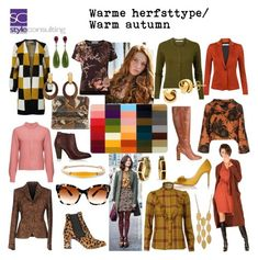 """"""" By Margriet Roorda-Faber, Style Consulting. Deep Autumn, Warm Autumn, Colourful Outfits, Colorful Fashion, Fall Wardrobe, Capsule Wardrobe, Warm Fall Outfits, Color Type, Redhead Fashion"""