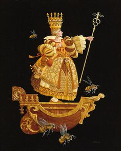 Queen Bee, James Christensen. We have a fabulous puzzle of one of his drawings that we had framed.
