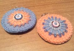 Blue+Peach++hand+embroidered+felt+pendants+by+grabacoffee+on+Etsy