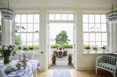 Swedish sun room - really like the windows and doors