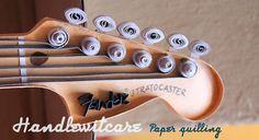 Paper Fender Stratocaster - quilling guitar on Behance