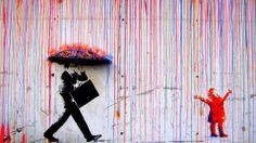 coloured rain #Banksy #Art #Color