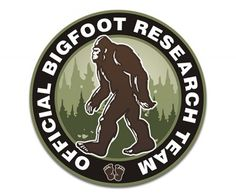Bigfoot Sasquatch Research Team Sticker Decal