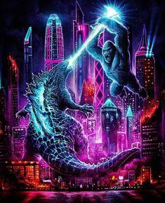 All Godzilla Monsters, Godzilla Comics, Godzilla Vs, Psycho Clown, King Kong Vs Godzilla, Godzilla Wallpaper, Planet Of The Apes, Jurassic World, Cyberpunk