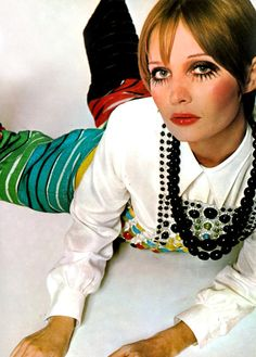 Twiggy by David Bailey for UK Vogue, 1968.