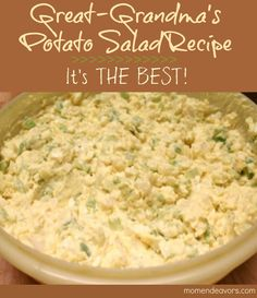 The BEST Potato Salad Recipe with 20+ other great summer recipes!
