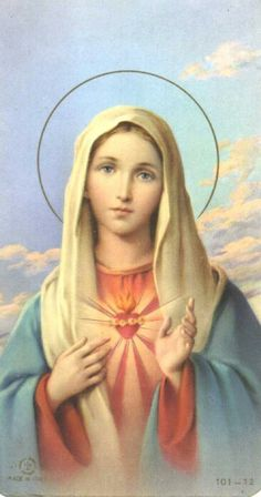 Series J - Sacred Heart of Jesus Jesus Mother, Blessed Mother Mary, Blessed Virgin Mary, Religious Images, Religious Icons, Religious Art, Hail Holy Queen, Jesus E Maria, Queen Of Heaven