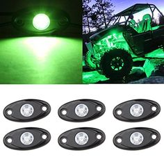 LED Rock Light Kits 6 Pod LED Light Lamp for Interior Exterior Under Off Road Truck Jeep ATV SUV Jeep 4x4 Boat 4wd Motorcycle Car (Green) - http://www.caraccessoriesonlinemarket.com/led-rock-light-kits-6-pod-led-light-lamp-for-interior-exterior-under-off-road-truck-jeep-atv-suv-jeep-4x4-boat-4wd-motorcycle-car-green/  #Boat, #Exterior, #Green, #Interior, #Jeep, #Kits, #Lamp, #Light, #Motorcycle, #ROAD, #Rock, #Truck, #Under #All-Green-Automotive, #Green-Automotive