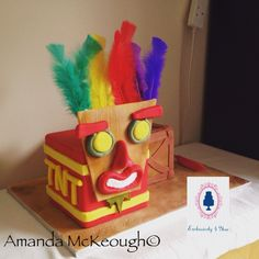 Crash Bandicoot Birthday Cake #crashbandicoot #birthdaycake #cake
