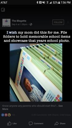 Each school year is in a folder -- includes school photo and memorable items from that year. Each school year is in a folder -- includes school photo and memorable items from that year. Parenting Done Right, Kids And Parenting, Parenting Hacks, Parenting Goals, Baby Kind, Baby Love, My Bebe, Future Mom, Future Baby Ideas