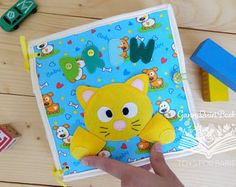 Themed Personalized Quiet book, Sensory Toy, Jungle Cars Farm Busy Activity Book Fishing game Finger puppets Toddler learning (2-5 years)