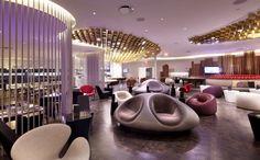 Modern Virgin Upper Class Lounge at JFK Design by Slade Architecture Decoration Ideas JFK Virgin Upper Class Lounge Design by Slade Architec... space divider