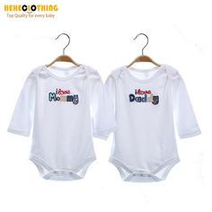 I love mom I love Dad Unisex Rompers   € 9.61