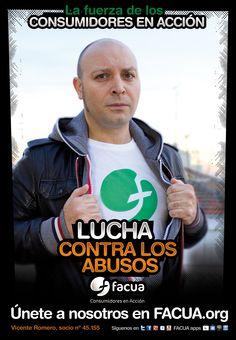Vicente Romero, socio de FACUA nº 45.155, llama a los consumidores a la lucha contra los abusos