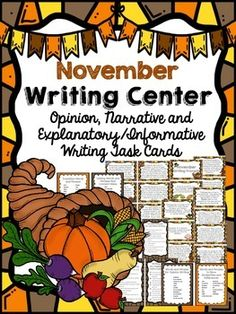 Get your students writing with these fun and engaging writing prompts. All you need for your writing center is included! These writing prompt task cards cover Opinion/Persuasive Writing, Explanatory Writing, Narrative Writing and also incorporate some letter writing. $