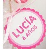 Etiqueta Personalizada para Cumpleaños Fucsia Personalized Tags, Scrapbook, Website, Hot Pink, Tags, Personalised Labels, Personalised Signs, Scrapbooks, Scrapbooking