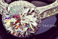 Tacori. Style No. HT2609RD10 Let the solitaire round diamond let her know that she is the only diamond in your life.