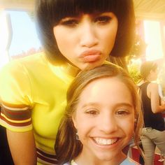 Mackenzie Ziegler made a Public Appearance and met Zendaya at the Nickelodeon Kids Choice Awards [2015]