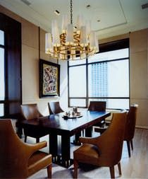 Leather Upholstered Dining Room  Dining  Architectural Detail  Design Detail  Neoclassical  Contemporary  American  Architectural Details  Modern  Eclectic  Transitional by Scott Himmel Architects