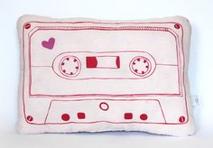 Cassette Tape Pillow. ♡ I want one!!