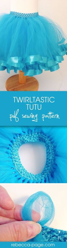 FREE Twirltastic Tutu pdf sewing pattern! Get the coupon code and make the cutest ribbon tutu about. With yards of tulle and super curly ribbon, it's literally twirltastic. There's an tutorial option for either a ribbon waistband, or a crochet band/headband, and instructions for making it more or less full… so you can customise it however you like for your sewing project.