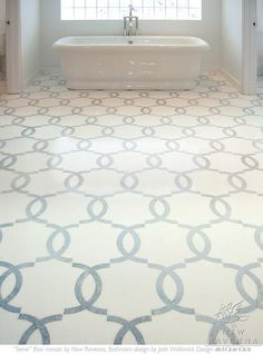 Love this bathroom tile floor!