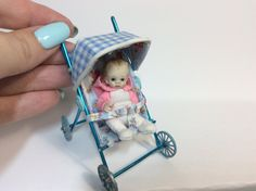 Hi everyone , This tutorial is how to make a cute realistic miniature 1/12th scale Baby stroller for your dollhouse babies or you can scale it up slightly fo...