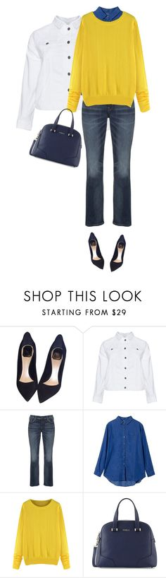 """""""Untitled #421"""" by oxigenio ❤ liked on Polyvore featuring Christian Dior, Doris Streich, Silver Jeans Co., Furla and plussize"""