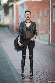 Black on black | Women's Look | ASOS Fashion Finder